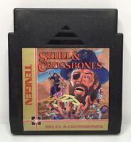 Nintendo NES Skulls & Crossbones Tengen Game Cart *Authentic/Cleaned/Tested*