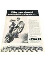 1972 Jawa CZ 90cc 175cc Motorcycle Bike Vintage Advertisement Print Ad J416