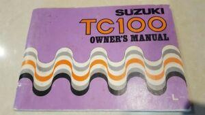 Suzuki TC100 Owners Manual