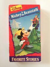 DISNEY VHS Mickey and the Beanstalk ANIMATED Children's CARTOON Fantasy STORY