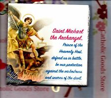 Saint Michael the Archangel wall or shelf art ceramic tile from Italy