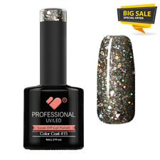415 VB™ Line Dark Grey Glitter * UV-LED soak off gel nail polish