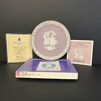 Vintage Valentine's Day 1982 White on Lilac Jasper Wedgwood Plate-1st in Series