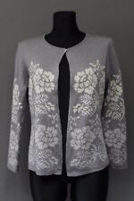 OLEANA Damen Jacke Size M Wolle + Seide Grau Made in Norway Espeland Freizeit 4+