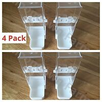 4 Pack Cage Bird Water Drinker / Feeder For Budgie, Cockatiel, Finch with Clip