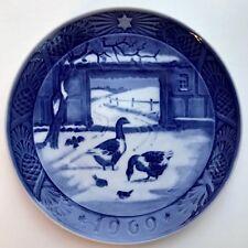 1969 • Royal Copenhagen Christmas Plate • In the Old Farmyard • Euc