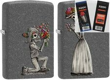 Zippo 28987 skeleton love 2 piece Lighter with *FLINT & WICK GIFT SET*