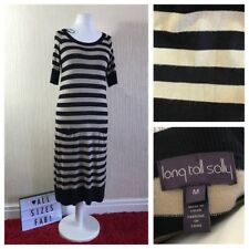 Long Tall Sally Patch Pocket Stripe Knit Long Tunic Size M UK 12/14 *Worn Once