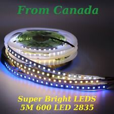 5m 600 LED strip light 2835 SMD string flexible 120/M string tape lamp white 12V