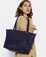 NWT $245 MZ Wallace SOHO Tote Bag Nylon Leather Trim Boysenberry Bedford