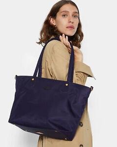 NWT $245 MZ Wallace SOHO Tote Bag Nylon Leather Trim Boysenberry Bedford