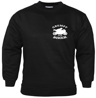 Grumpy Old Biker Chest Badge Sweatshirt For Bikers Motorbike Accessories Gifts