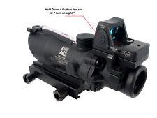ACOG Style 4X Fiber Optics Red Illuminated Rifle Scope + On/OFF RMR Micro Sight
