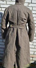 Vintage USSR Russian Military Surplus Uniform Overcoat Soldier Wool Coat WW2