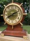 Vintage+United+Clock+Ship+Wheel+Mantel+Desk+Electric+Clock+Wood+Case+Model+330