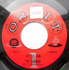 BOB HARMON obscure rockabilly swagger 45 MALLIE ANN b/w YOU ARE THE ONE jr628