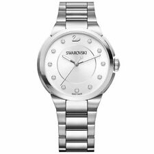Ladies Swarovski City Watch - Metal Bracelet - White - Silver Tone - 5181632