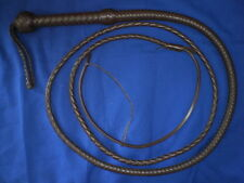 bullwhip 8 plait 8 ft leather whip whips bullwhips BROWN indiana jones