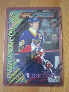 1995 96 Finest #  5 Wayne Gretzky - Blues - Performers #P 10                ZWG1