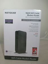 NETGEAR N600 (8x4) WiFi DOCSIS 3.0 Cable Modem Router (C3700) Certified for X...