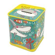Keep Out Blue Metal Shark Money Tin – Rachel Ellen Boys Moneybox Moneybank Bank