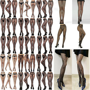 Women's Lace Sexy Tights Fishnet Hollow Out Floral Pantyhose Stocking Lingerie