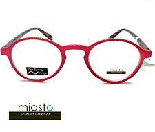 MIASTO RETRO ROUND KEYHOLE PREPPY READER READING GLASSES+2.00 COLOR RED (SMALL)