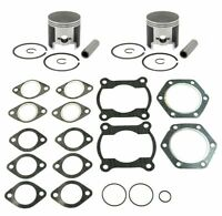 1986-1999 Polaris Indy Trail 488 Pistons Top End Gasket Kit Std Stock Bore 72mm