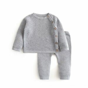Baby Clothes Spring Autumn Christmas Tops Knit Sweater Newborn Pant Outfits new