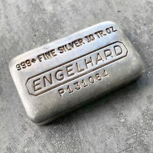 Engelhard 10 oz .999 Silver Poured Bar - P Series