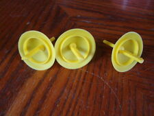 3 Lustro Ware Popsicle Mold Replacement Sticks Tops Vintage 1960's Yellow Props