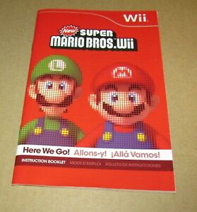 New Super Mario Bros. (Instruction Manual Only) Nintendo Wii Authentic