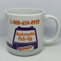 Vintage Federal Express Pick-Up Line Advertising Coffee Mug Tea Cup