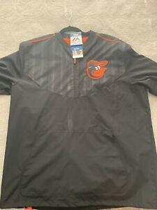 Baltimore Orioles Authentic Cool Base Training S/S Jacket By Majestic - Large