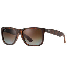Ray-ban Justin Polarizado Masculino RB4165-865/T5-55 Óculos De Sol Retângulo Marrom