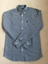 "FRED PERRY L/S GINGHAM SHIRT - XS - ( 34""- 36"" ) rrp £80"