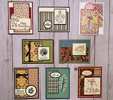 8 Fall Autumn Thanksgiving geeting cards envelopes Stampin' Up! +more