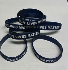 Blue Lives Matter Silicone Wristbands Adult size