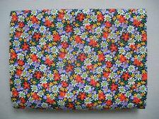 97cm x 110cm Mixed Colours - Floral - Cotton Fabric Material
