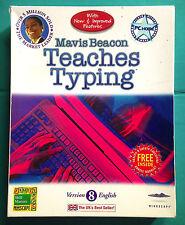 MAVIS BEACON Teaches Typing Version 8 - English Good Used Condition Free UK Post
