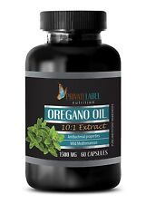 Immune System Protection - Oregano Oil 1500mg - Anti Ageing - 60 Capsules