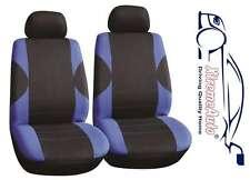 6 PCE Paddington Black/Blue Front Car Seat Covers For Honda Civic Accord CR-V