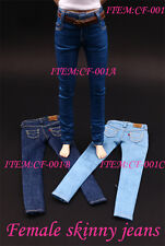 1/6 Scale CF-001A Female Skinny Jeans Trousers Pants F 12'' Seamless Body