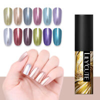 LILYCUTE 5ml Metallic Gel Nail Polish Soak Off Mirror UV Gel Nail Art Varnish