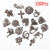 Wholesale 100pcs Bulk Lots Tibetan Silver Mix Charm Pendants Jewelry DIY YB US