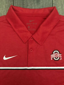 Nike Ohio State Buckeyes On Field Short Sleeve Polo Shirt Mens 2XL Red NWT $75