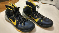 2014 PAUL GEORGE ATHLETIC NIKE HYPERDUNK SHOES NAVY/GOLD MICHIGAN WOLVERINES