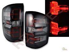 2014-2015 Chevy Silverado 1500 2015 2500HD 3500HD LED Tail Lights Black G2