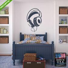 Wall Decals Art Decor Mural Sticker Beautyfull Headphones Music Bedroom (Z193)