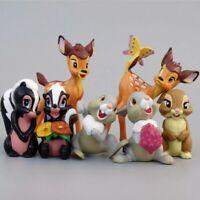 7PCS Bambi Deer Toys Disney Cartoon Toy PVC Action Figures Gift Children Boy